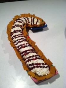 candy cane cheese log